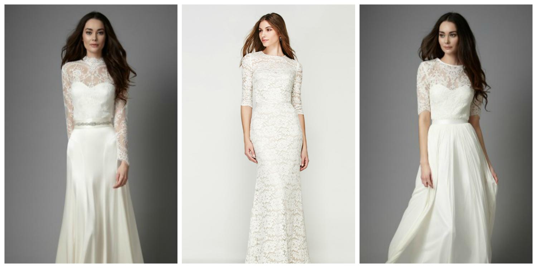 winter wedding long sleeved dress