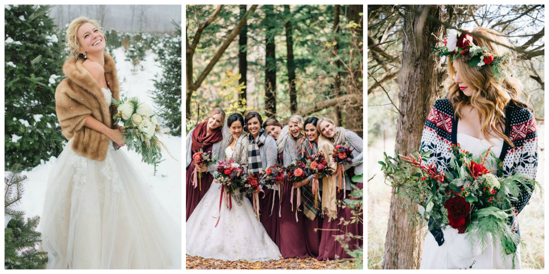 winter wedding cosy bridal wraps