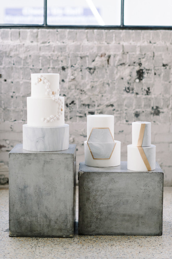 5 Stylist Ways To Create A Marble Metallic Wedding Theme 100layercake.com - sarahstreetphotography.com