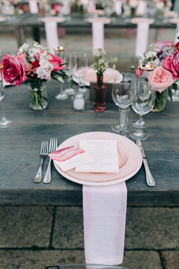 Pretty Pink Summer Table Styling Ideas junebugweddings.com -emilydelamater.com