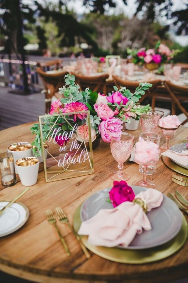 Pretty Pink Summer Table Styling Ideas modwedding.com - melissabiador.com1