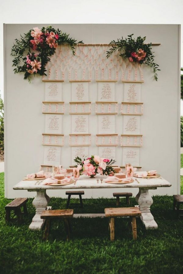Pretty Pink Summer Table Styling Ideas modwedding.com - melissabiador.com2