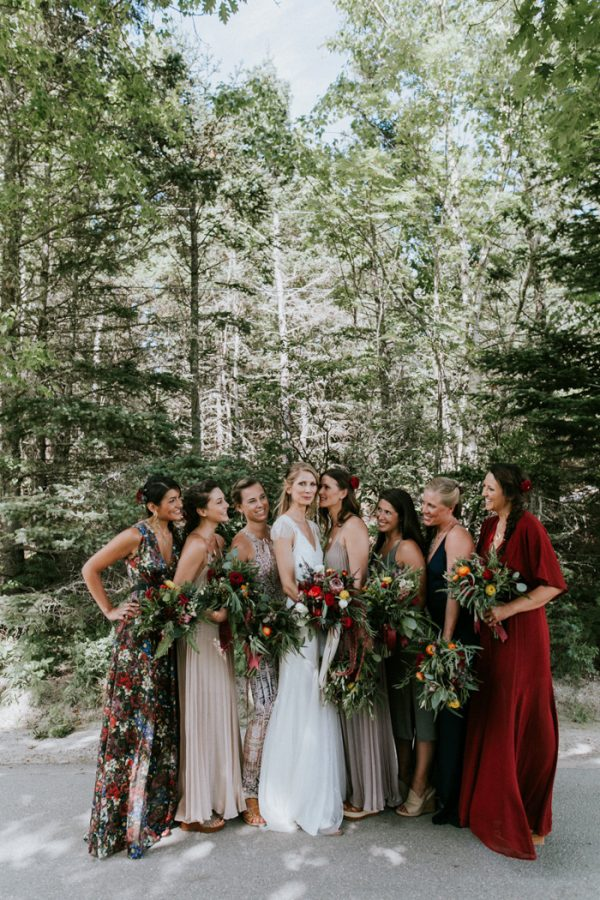 How To Pull Off The Mismatched Bridesmaids Trend junebugweddings.com - emilydelamater.com