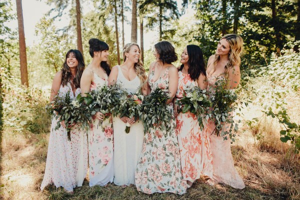 How To Pull Off The Mismatched Bridesmaids Trend junebugweddings.com - taylorroades.com