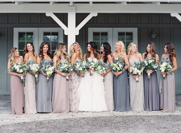 How To Pull Off The Mismatched Bridesmaids Trend stylemepretty.com - laurenpeelephotography.com